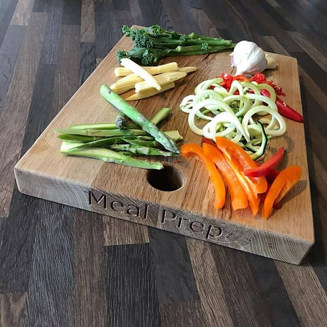 Meal Prep Essex Chopped Vegetables On A Cutting Board